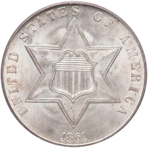 GFRC Open Set Registry - Winesteven 1851-1872 3Cent Silver  3C